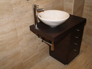 Mueble de baño en wenge