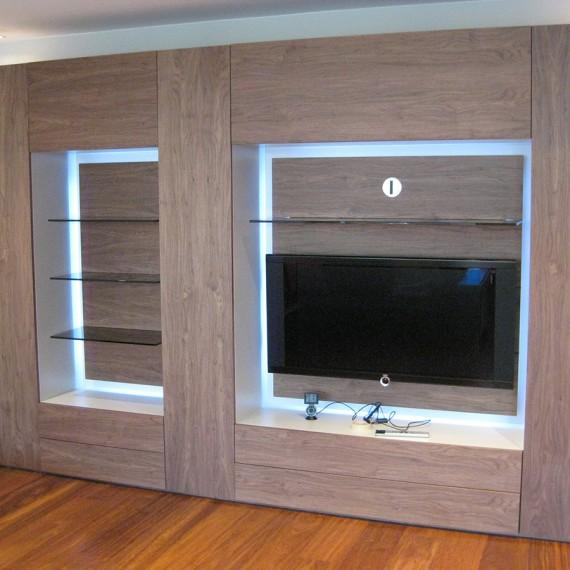 Mueble de salón madera de cerezo