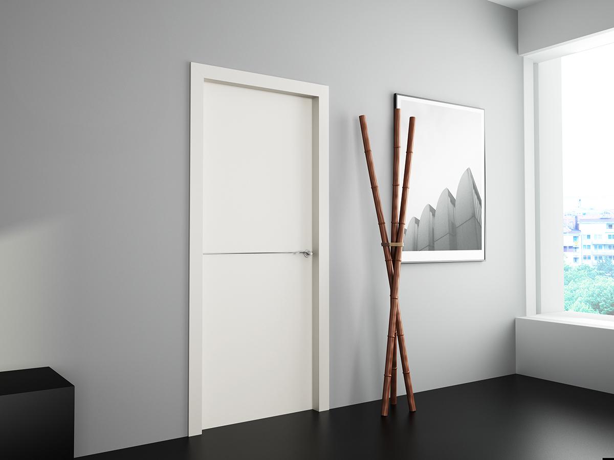 Puertas de interior blancas lacadas vetta grupo carpinter a for Puertas de madera blancas para exterior