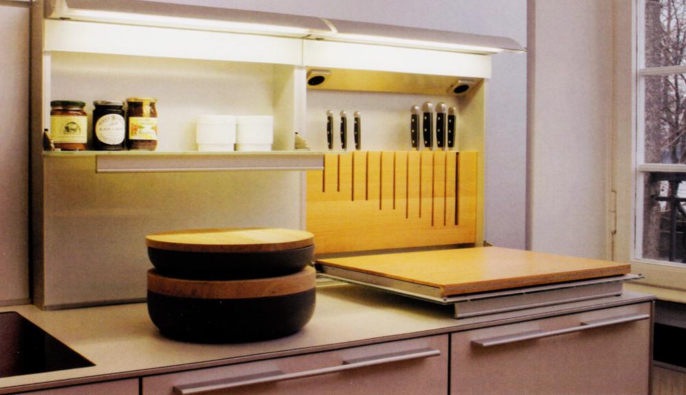 Cocina mixta lacada madera de roble vettagrupo for Cocinas de madera de roble