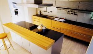 Cocina mixta lacada madera de roble