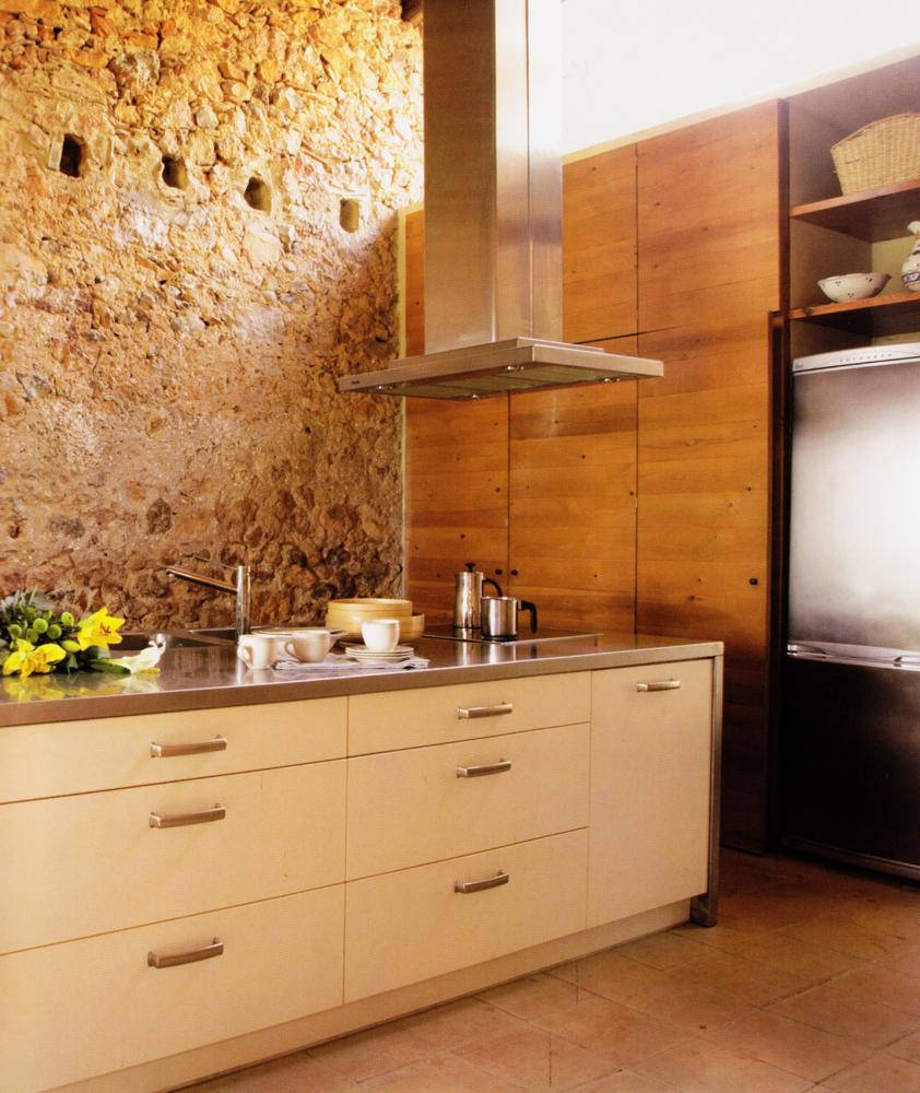 Cocina mixta lacada madera pino tintado - VettaGrupo