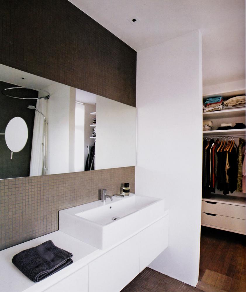 Mueble de baño lacado blanco