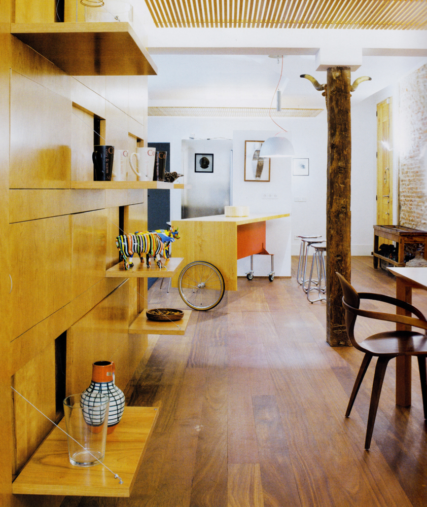 Mueble de sal n madera cerezo vettagrupo - Muebles salon madera ...