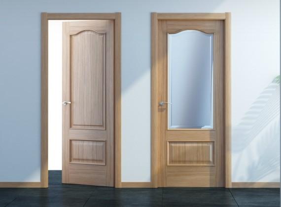 Puerta interior madera maciza olmo negro vetta grupo for Ver puertas de interior
