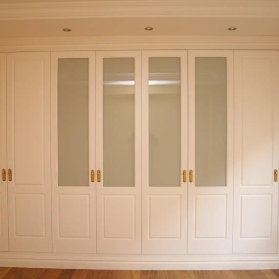 Armario lacado blanco cristal lacobel vetta grupo - Puertas de armario empotrado ...