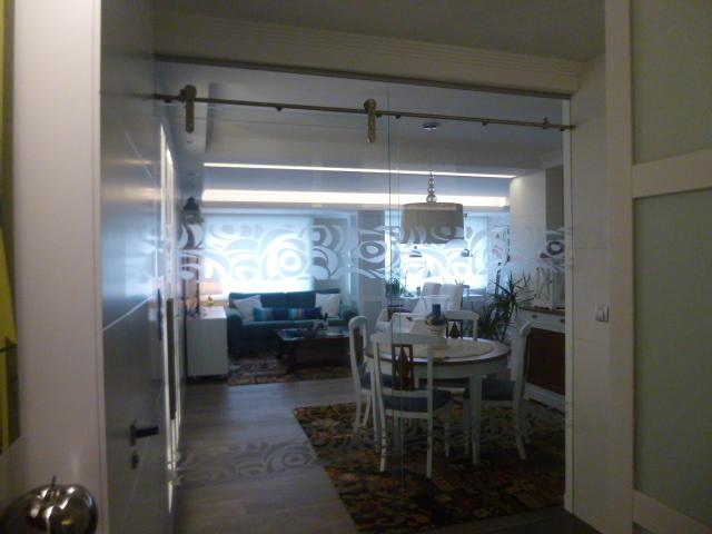 puerta corredera cristal con vinilo decorativo with cristal puerta salon