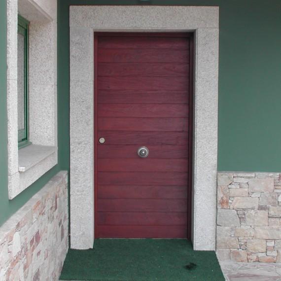 Puerta de entrada madera ipe