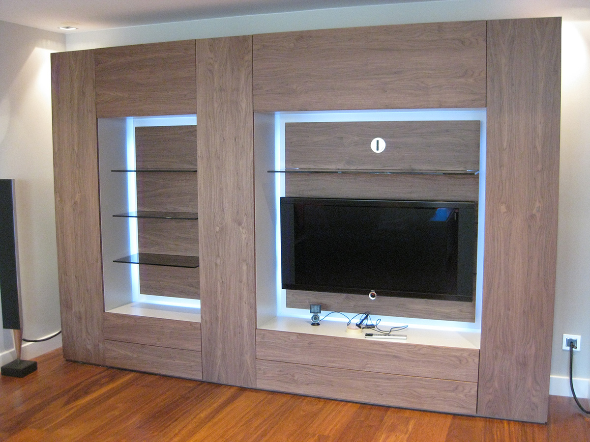 Mueble de sal n madera cerezo vettagrupo for Muebles bajos para salon