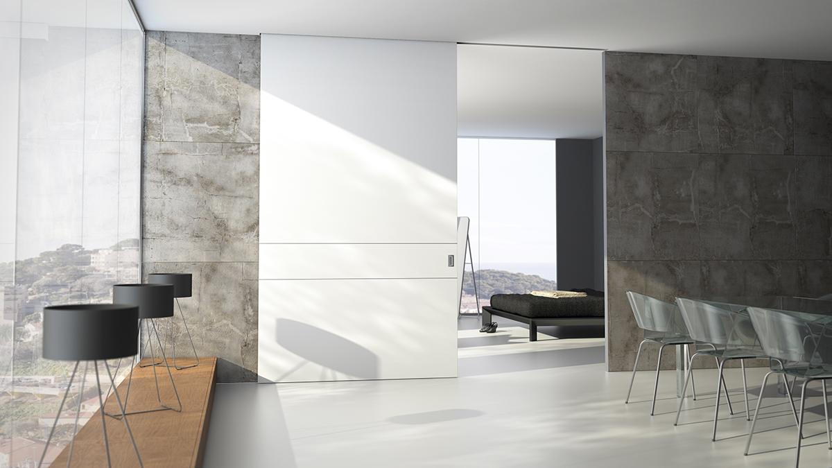 Puertas correderas gran formato o de suelo a techo vetta for Vidrios decorados para puertas interiores