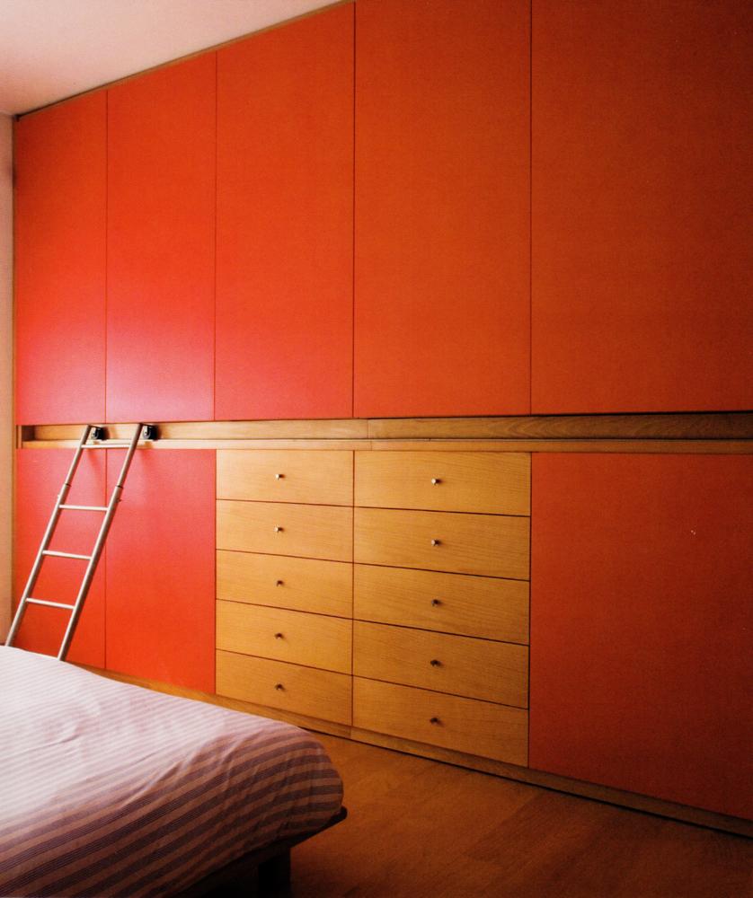 Dormitorio mixto lacado madera de roble