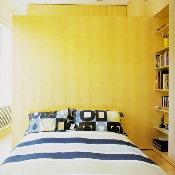 Dormitorio en madera de haya