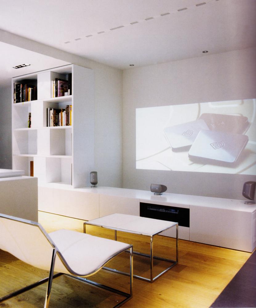 Muebles Lacados Blanco Para Salon.Mueble De Salon A Medida Lacado Blanco Vetta Grupo