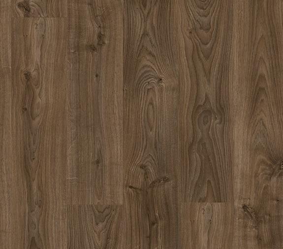 Suelo vinílico Quick Step Livyn Roble Cabaña marrón oscuro - Detalle