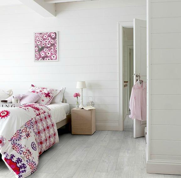 Suelos de vinilo para habitaciones infantiles - Roble blanco