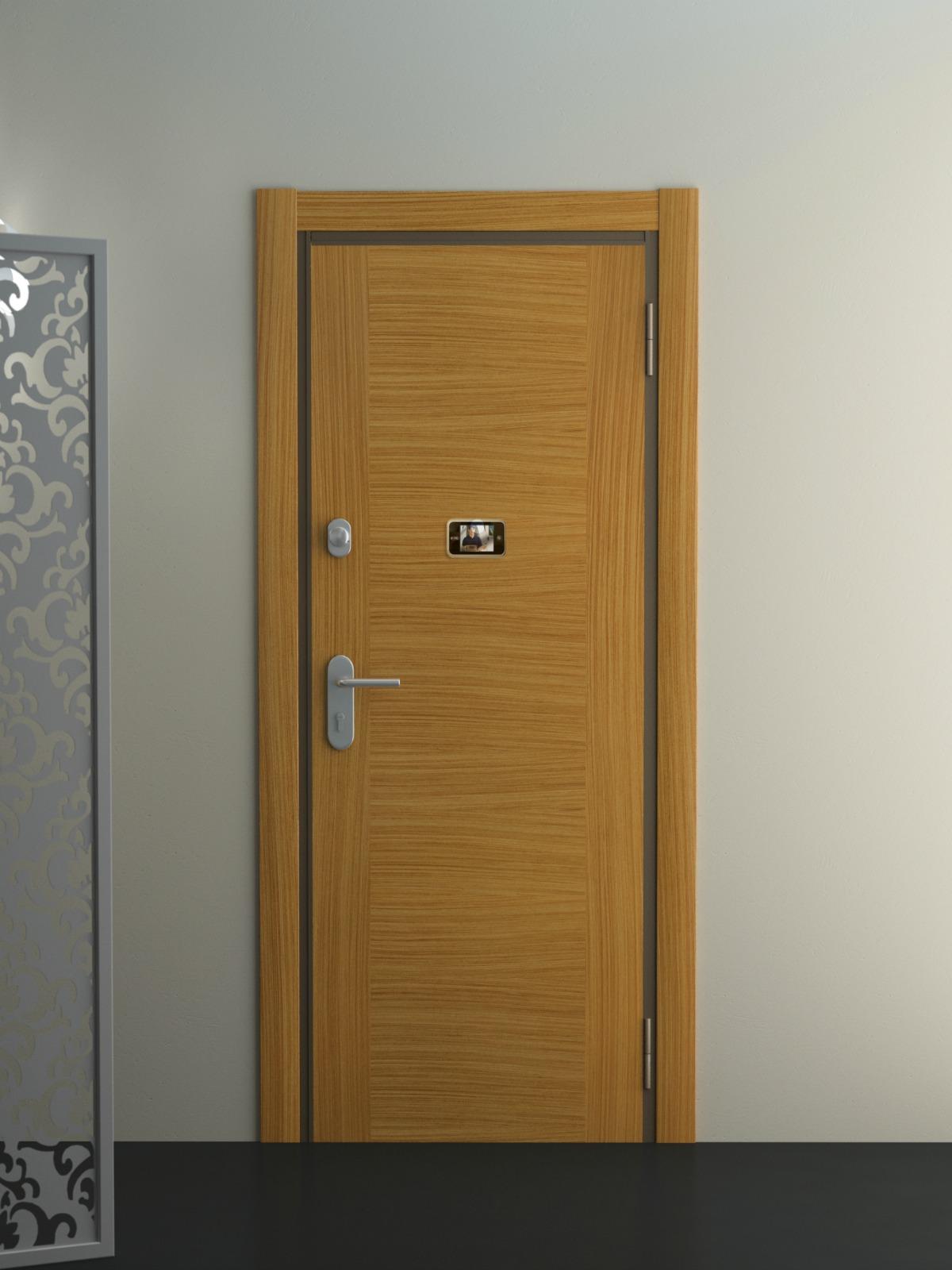 Puerta de entrada en madera puertas coru a vetta grupo - Puertas piso interior ...