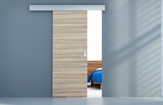 Puerta interior corredera en madera