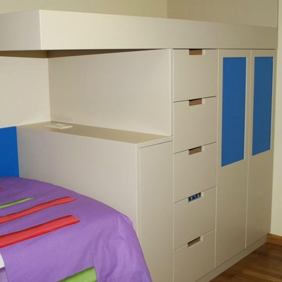 Dormitorio a medida habitación infantil-juvenil